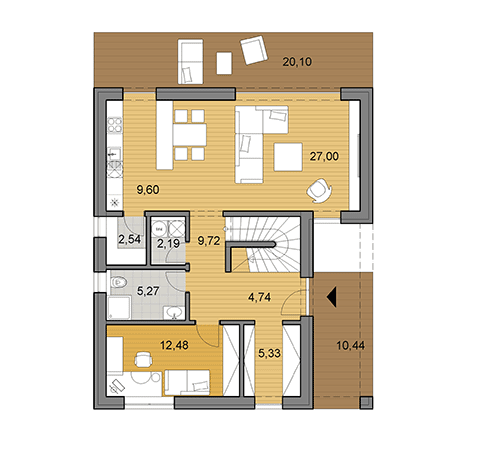 House plan of double storey family house L2-145