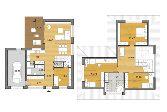 Two story family house plans for Two story living room house plans