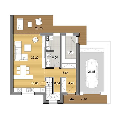 House plan of larger double storey family house