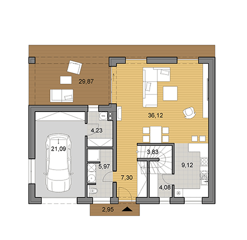 House plan for house of 175 m2