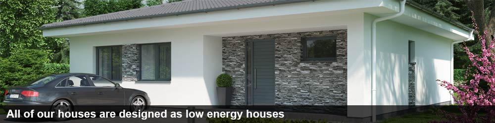 All of our house plans are low energy houses