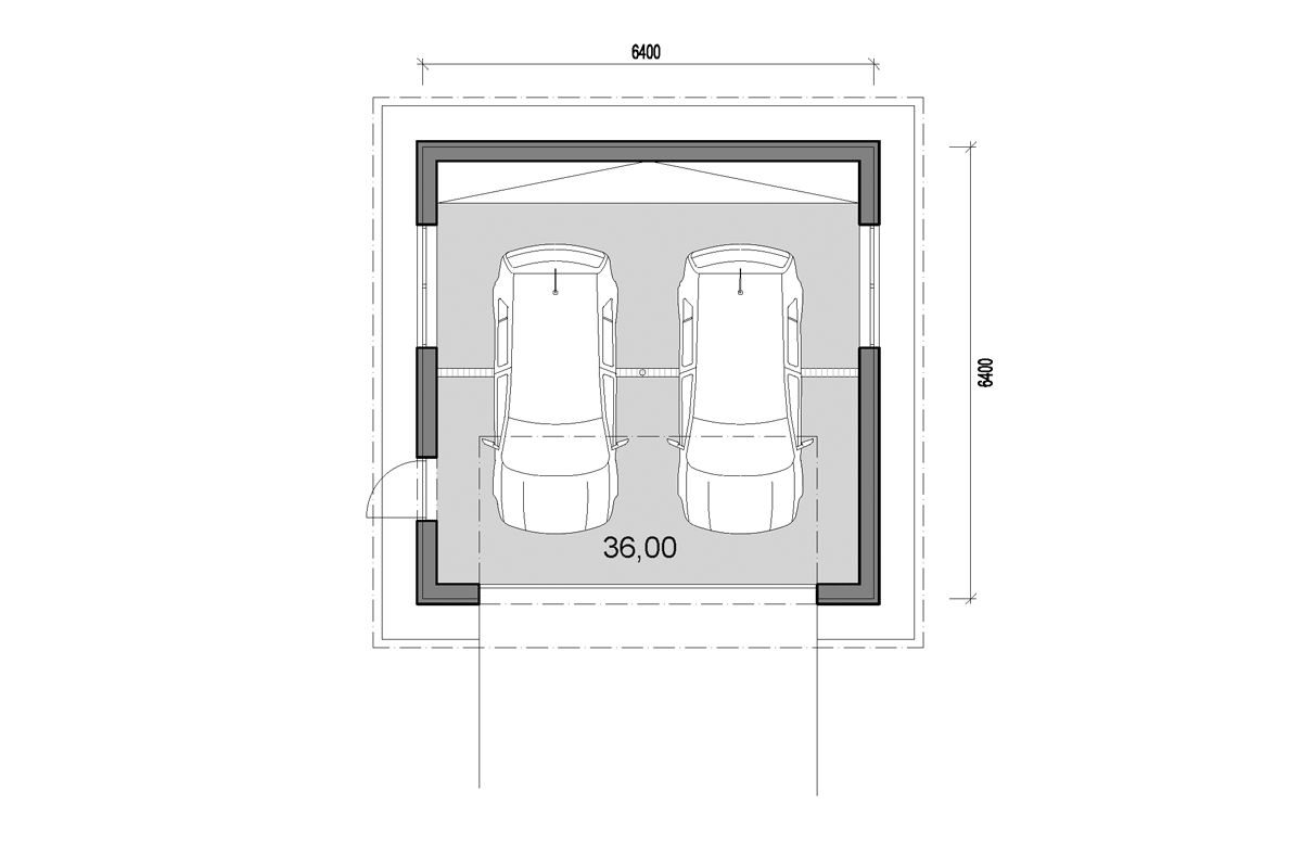 2 car garage plans djs architecture for Double garage plans
