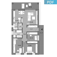 House i102 - Floor plan in pdf