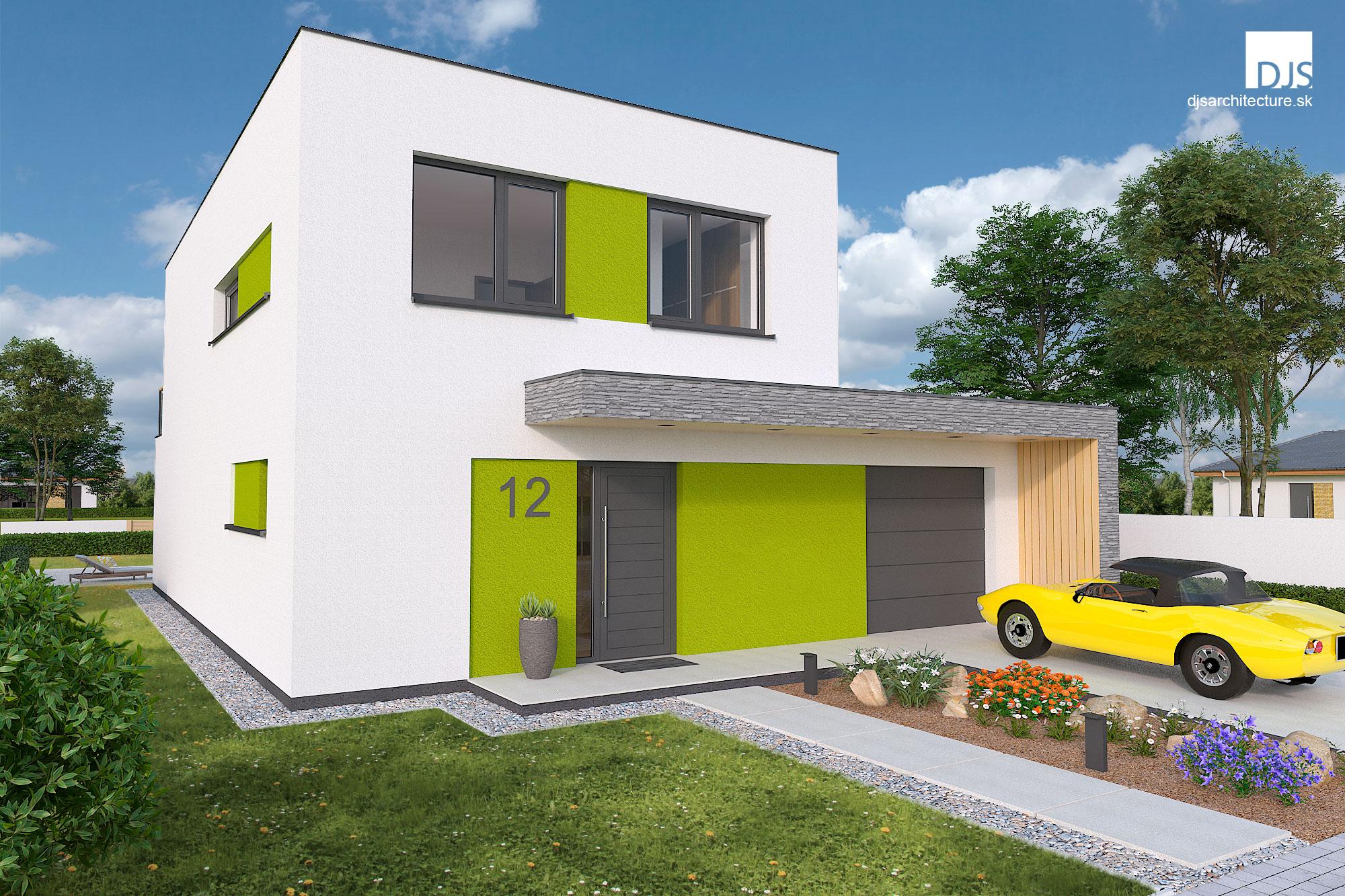 Projekt Moderného Poschodového Domu I2 120 Djs Architecture