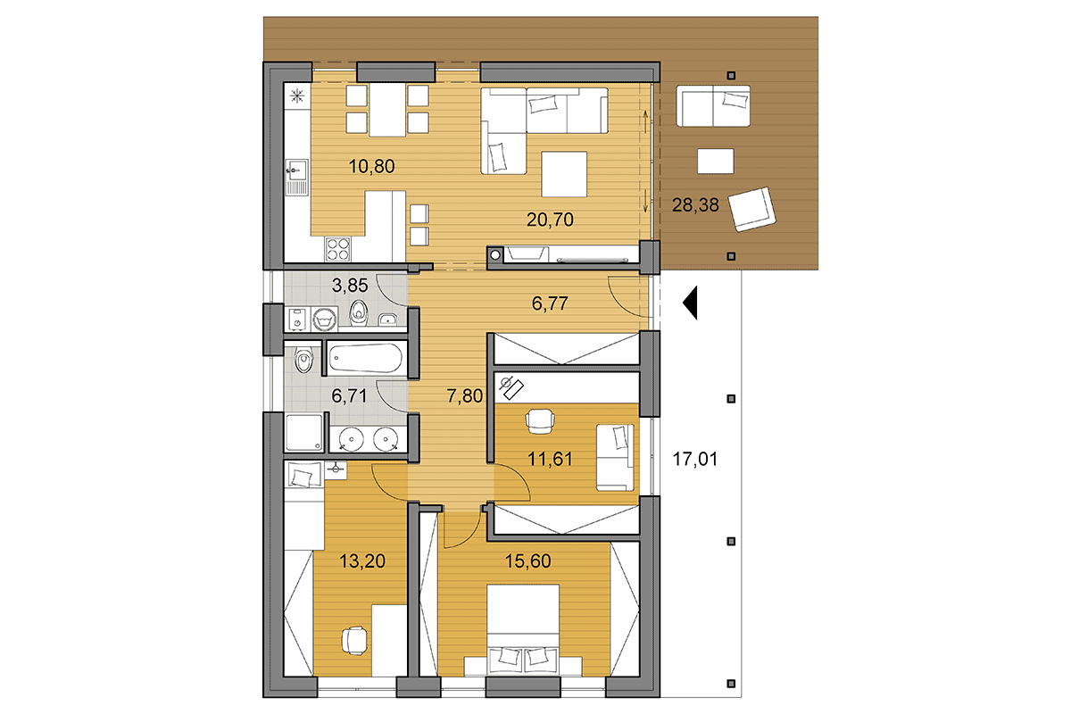 Bungalow i95 - Floor plan
