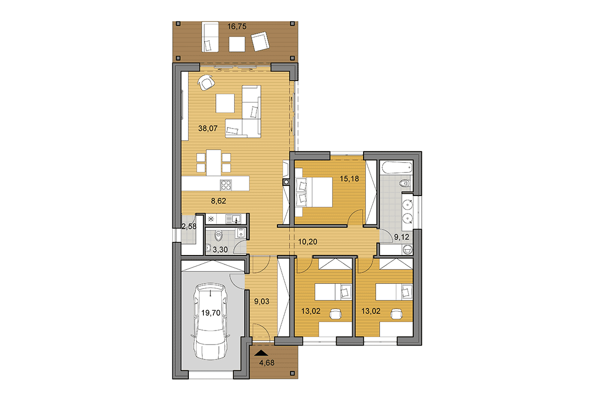 House plan L135 - Floor plan