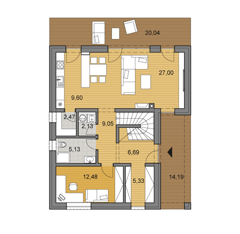House Plan Of Double Storey Family House L2 145