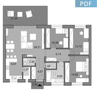 House O100 - Floor plan in pdf