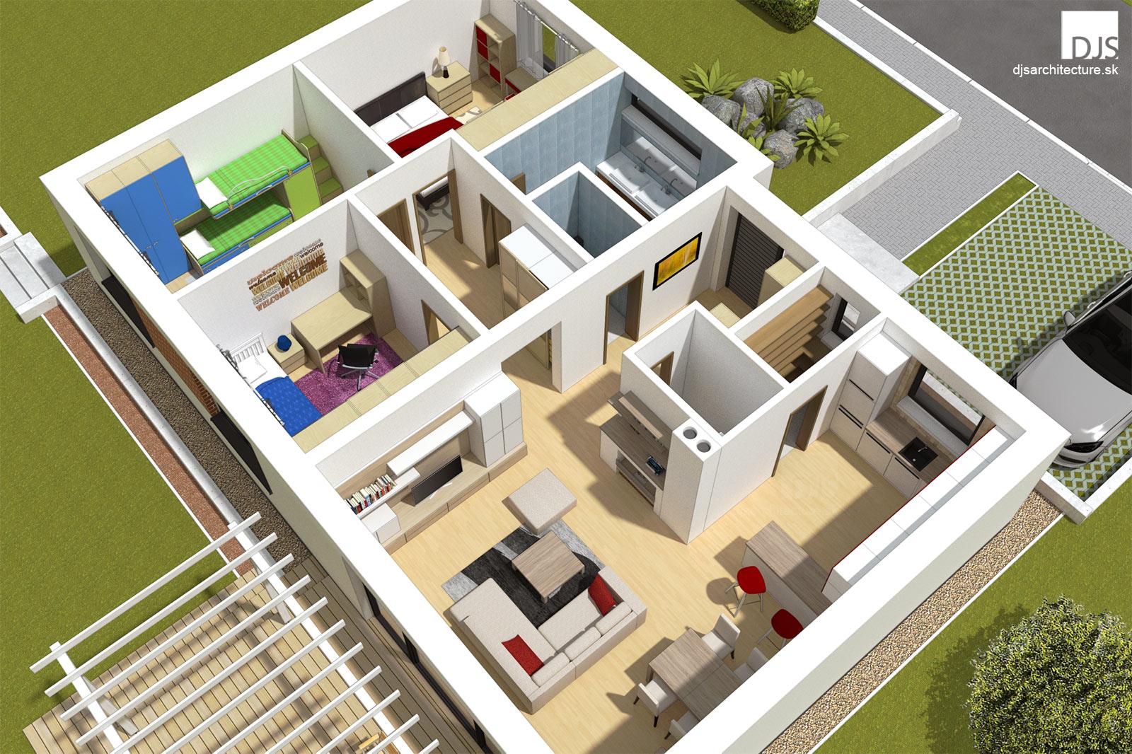 House Plan Bungalow O100 Djs Architecture