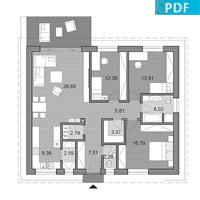 House O110 - Floor plan in pdf