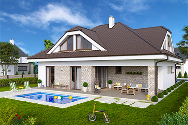 House plans of Family house O2-175