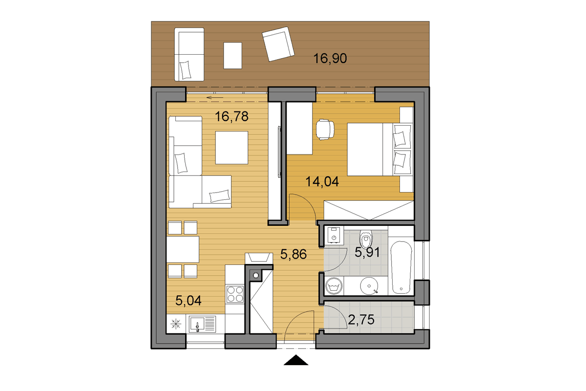 Bungalow O50 - Floor plan
