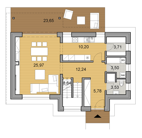 Delightful House Plan Of Double Storey Family House I2 124