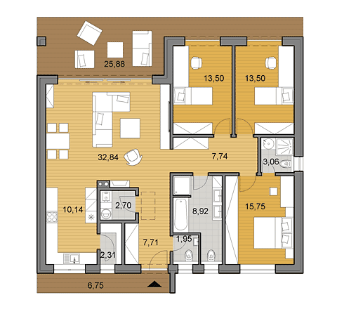 House plans choose your house by floor plan djs for 120 sqm modern house design