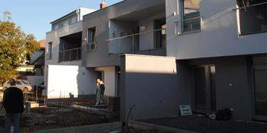 View of the terraced houses under construction