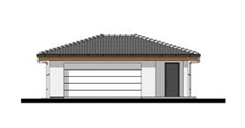 Double garage with side storage - Front elevation