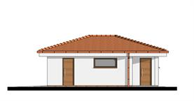 Double garage with back storage - Right elevation
