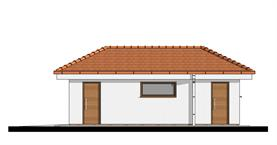 Single garage with storage - Right elevation