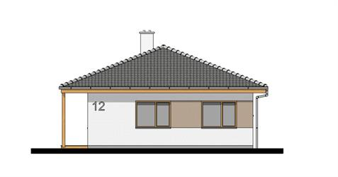Bungalow i105 - Front elevation