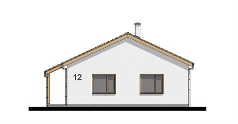 Bungalow i120 - Front elevation