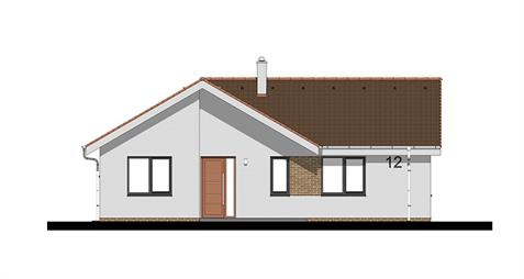 Bungalow L120 - Front elevation