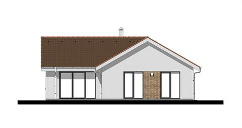 Bungalow L120 - Back elevation