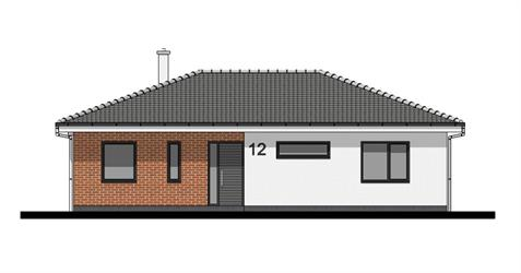 Bungalow O100 - Front elevation