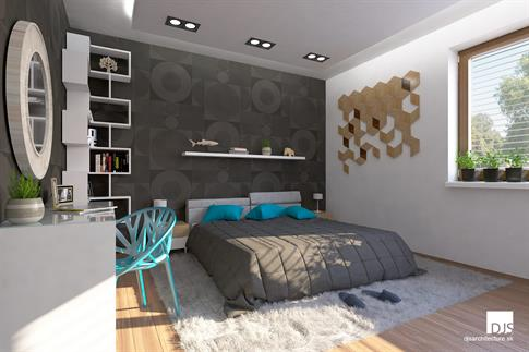 House plan - O110 - Master bedroom