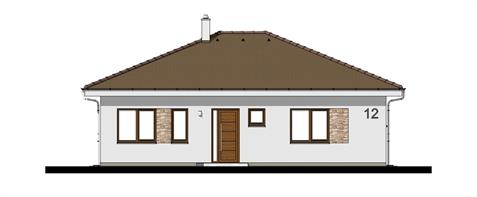 Bungalow O110 - Front elevation