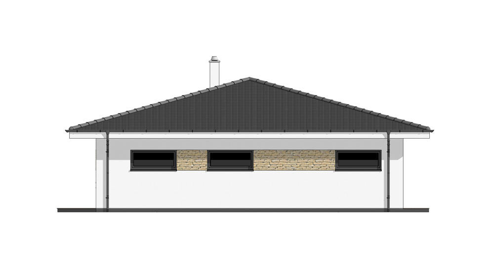 Bungalow O120G - Right elevation