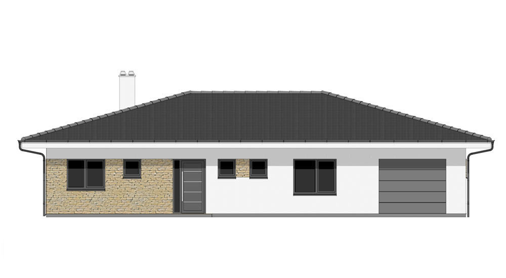Bungalow O120G - Front elevation