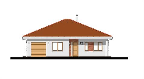 Bungalow O130 - Front elevation