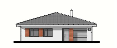 Bungalow O135 - Front elevation