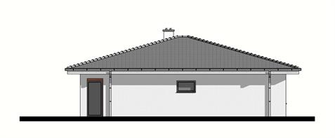 Bungalow O135 - Left elevation