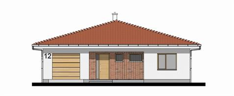 Bungalow O140 - Front elevation