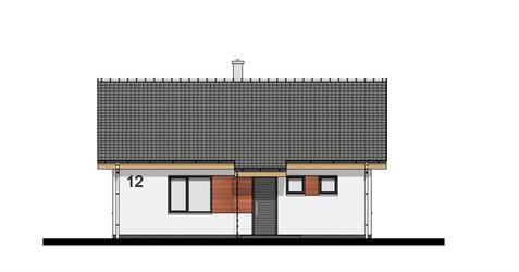 Bungalow O80 - Front elevation