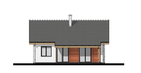 Bungalow O80 - Back elevation