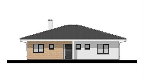 Bungalow O120 - Front elevation