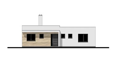 Bungalow O120P - Front elevation
