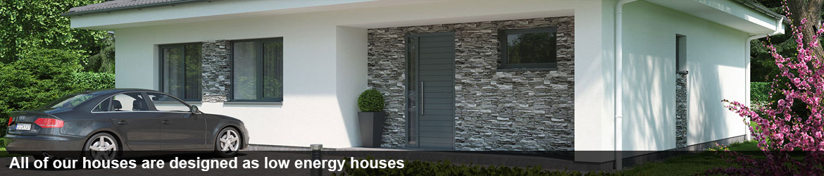 All of our houses are designed as low energy houses